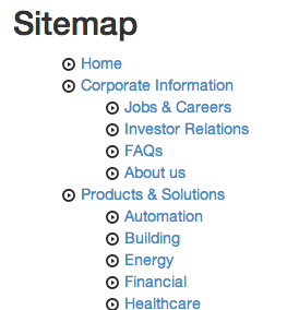 sitemap package for TYPO3 Neos